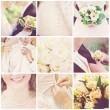 Collage of nine wedding photos — Foto de stock #4002947