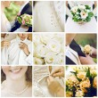 Постер, плакат: Collage of nine wedding photos