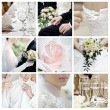 Collage of nine wedding photos — Foto de stock #4002968