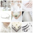 Collage of nine wedding photos — Stock fotografie #4002969