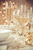 Table set for a wedding dinner — Foto de Stock
