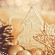 Golden christmas decoration — Stock Photo #4203043