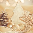 Golden christmas decoration — Stock Photo #4203045