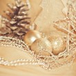Stock Photo: Decorative gold christmas ornament