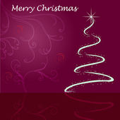Christmas card with christmas tree — Vector de stock