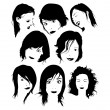 Hairstyles - Grafika wektorowa