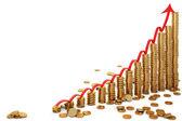Coins diagram — Stock Photo