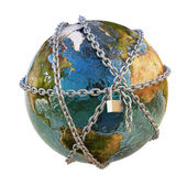 Earth and chains — Stock Photo