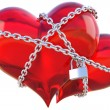 Hearts chain — Stock Photo