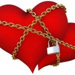 Hearts chain — Stock Photo