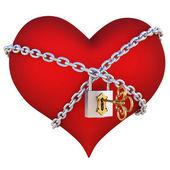 Hearts chain — Stock fotografie