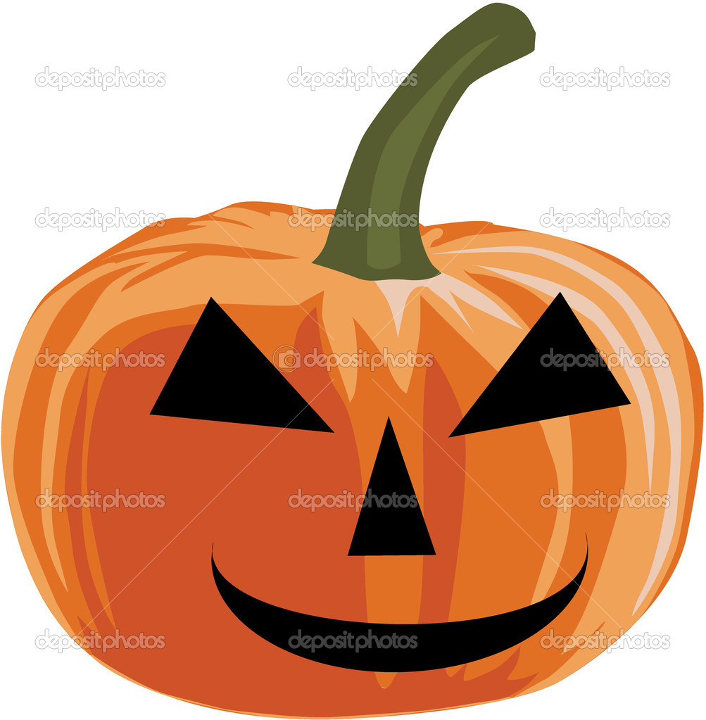 Pumpkin - halloween, vector illustration  Stock Vector #4030065