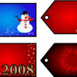 Christmas gift tags - Stock Vector
