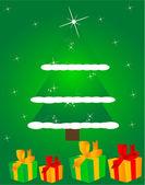 Weihnachtsgeschenk — Stockvektor