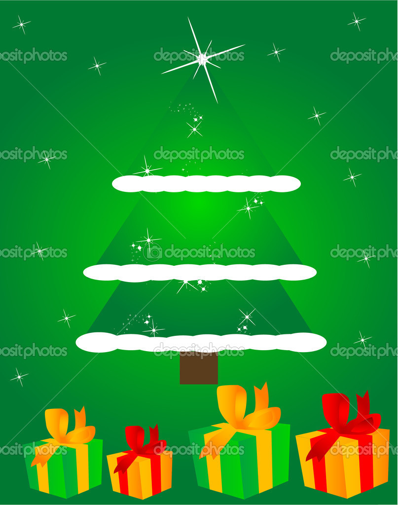 Christmas gift — Stock Vector #4234164