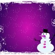Snowman - Visiting-card  2 - Stock Vector