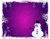 Snowman - Visiting-card 2 — Stock Vector