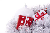 Christmas Baubles and presents — Stock Photo