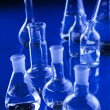 Laboratory Glassware in blue — Foto de Stock