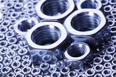 Steal screws and nuts — Stock Photo