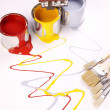 Spilling paint, home painting time! — Stock Photo