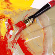 Dirty paintbrush! — Stock Photo