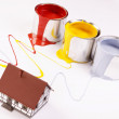 Stock Photo: Spilling paint, home painting time!