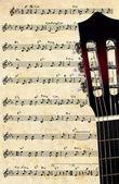 Guitar background — Stock Photo