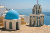 Churches in Santorini — Stock Photo