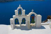 Utsikt över vita kapellet i oia, santorini — Stockfoto