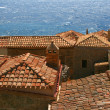 Roofs Monemvasia, Greece — Stockfoto