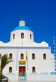 Bílá kaple v santorini — Stock fotografie