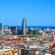 Panorama of Barcelona, Spain — Stok fotoğraf