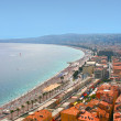 Cote d'Azur in city of Nice — Stock Photo