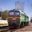 Diesel Train in center of Riga — Stock Photo