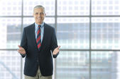 Businessman in Lobby of Modern Building — Stock Photo