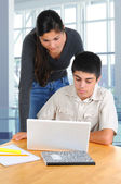 Two Students Studying Together — Stock Photo
