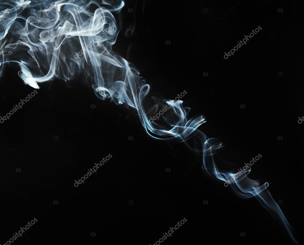 Smoke abstract and black background — Stock Photo #4894027