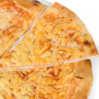 Three cheese pizza — Stock Photo