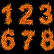 Stock Photo: Fire numbers set