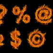 Set of Fire signs — Stock Photo