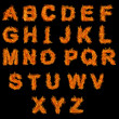 Set of Fire alphabet — Stockfoto