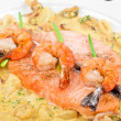 Stock Photo: Salmon fish and seafood