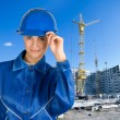 Builder girl — Stock Photo