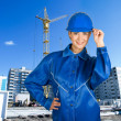 Builder girl - Stock Photo