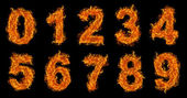Fire numbers set — Stock Photo