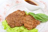 Roasted pork steak — Stock Photo