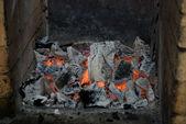 Live coals — Stock Photo