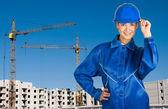 Builder girl — Stock Photo