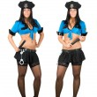 Sexy policewoman - Stock Photo